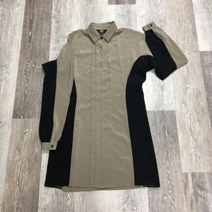 Urban Outfitters taupe shirt dress, size XS.